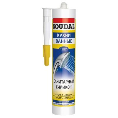 Герметик силиконовый санитарный SOUDAL
