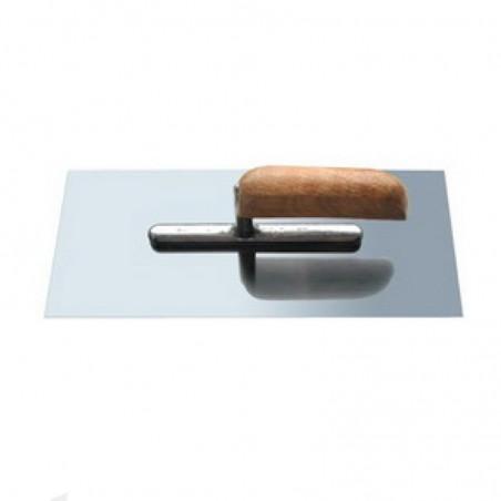 Гладилка прямая, нержавеющая сталь, деревянная рукоятка