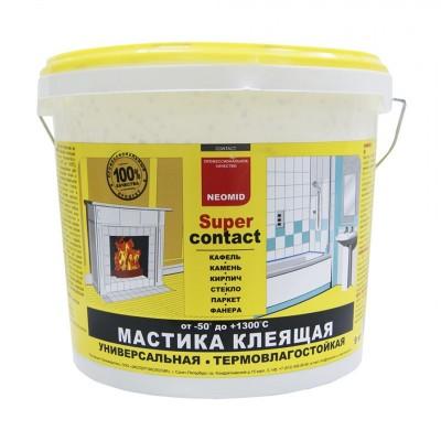 Мастика/клей термо-влагостойкая до 1200 градусов Neomid Supercontact